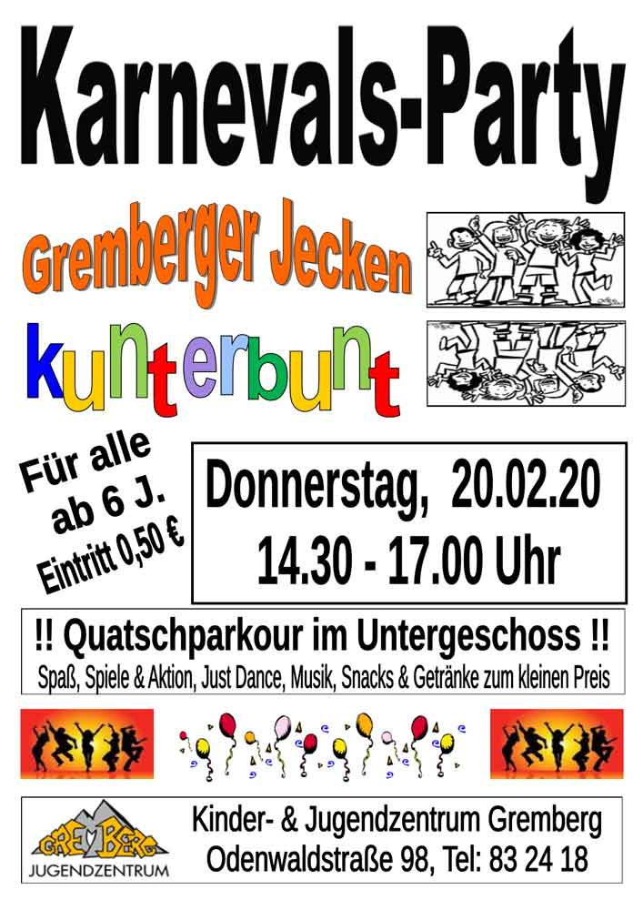 Plakat Karnevalsparty