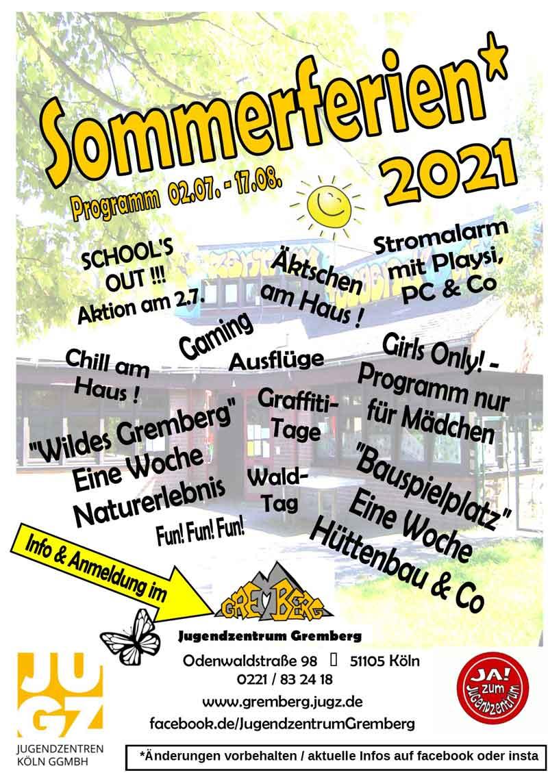 Sommerferienprogramm Plakat